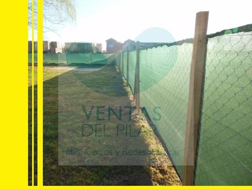Imagen 1 de 6 de Media Sombra Verde Obra Rollo 2,1x50m Envios Pilar-escobar