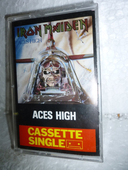 Fita K7 Single Iron Maiden Aces High 1984 England