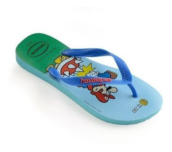 Sandalia Chinelo Mario Bros Cf - Havaianas - Azul Splash