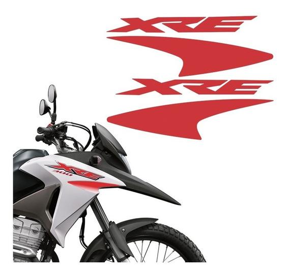 Kit Faixas Moto Xre 300 2016 Adesivo Vermelho Tanque