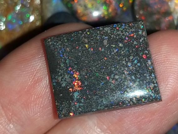Pedra Opala Preciosa Black Matrix Rainbow Raríssima 8,75 Ct