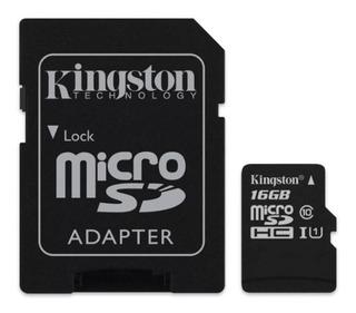 Memoria Kingston Micro Sd Hc 16gb Clase 10 C/adap