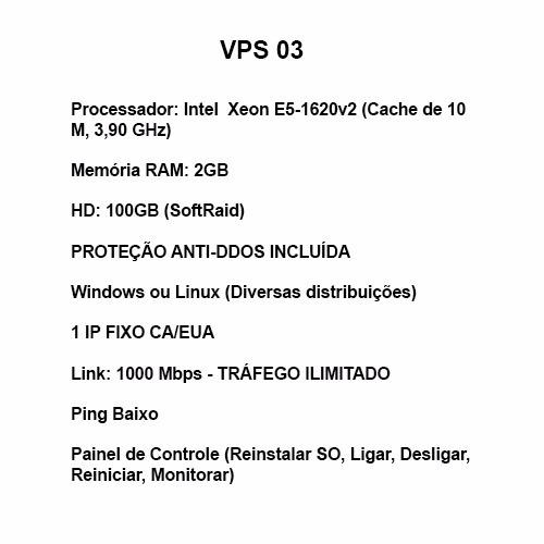 Servidor Vps Windows E Linux 4ghz, 2gb Ram, 80gb,ssh, 7 Dias