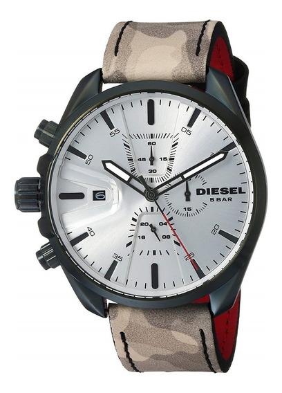 Reloj Diesel Para Hombre Modelo Dz4472 Correa Cuero Nuevo