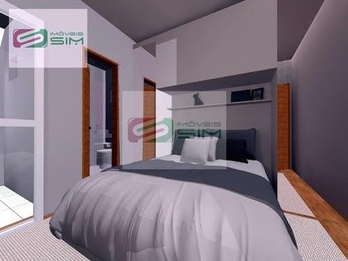 Imagem 1 de 3 de Apartamento Cobertura S/ Condomínio Em Vila Bastos - Santo André - 4244