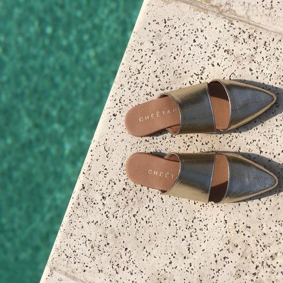 Zapatos Flats Brillantes Colores Gold, Silver Y Pink