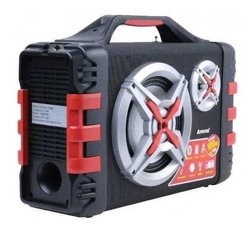 Rádio Fm Caixa Amplificada Som Bluetooth 100w Aux Usb P10 P2