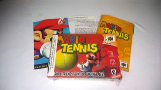 Mario Tennis Original Con Caja Y Manuales - N64