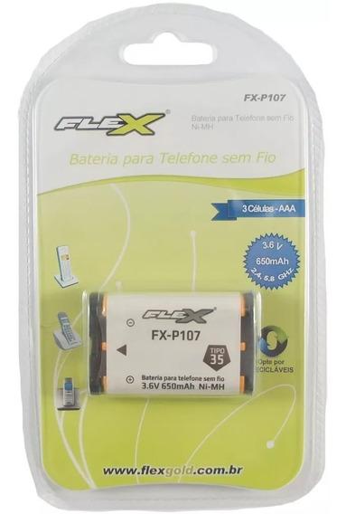 Bateria 3,6v Tel S/ Fio 650ma Fx-p107