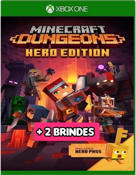 Minecraft Dungeons Edição Herói Xbox One + 2 Brindes