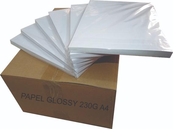 500 Folhas Papel Fotográfico Glossy 230g A4