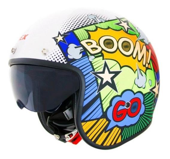 Casco Moto Abierto Con Visor Comic X581 Punto Extremo