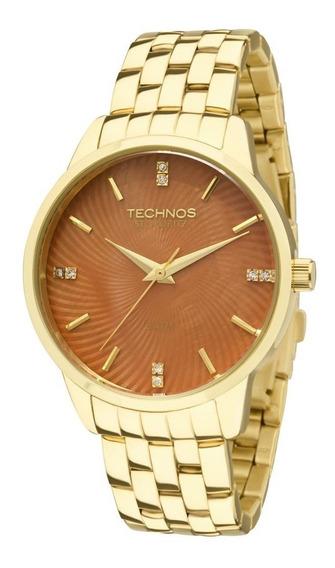 Kit Relógio Technos Feminino Elegance 2036lov/4m