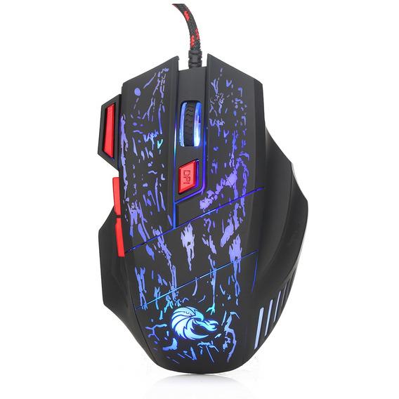 Hxsj H300 Usb Wired Gaming Mouse Ergon?mico Ratos Com Luz De