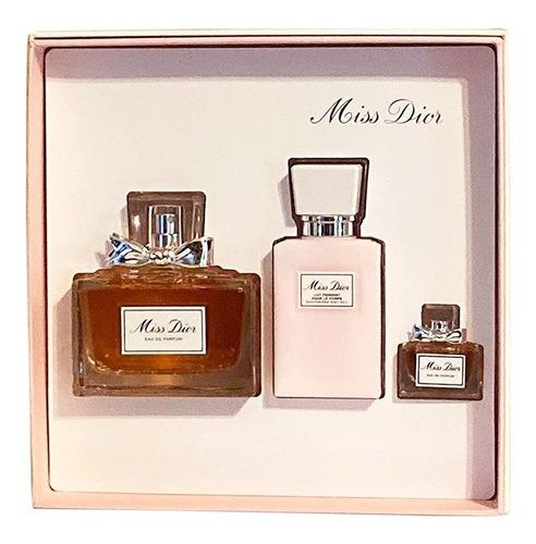 Set Perfume Miss Dior Edt 100ml 3pzas Dior Original