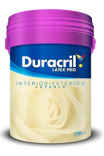 Pintura Latex Pro Interior Exterior Duracril X 20 Lts