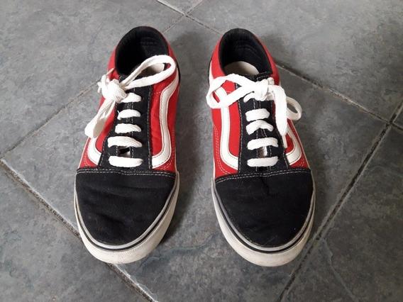 Zapatillas T/ Vans Old Skool T37 Poco Uso Liquido !!