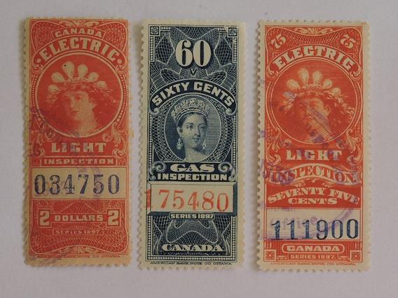 Canadá Selos Inspection Eletric Light / Gas 1897