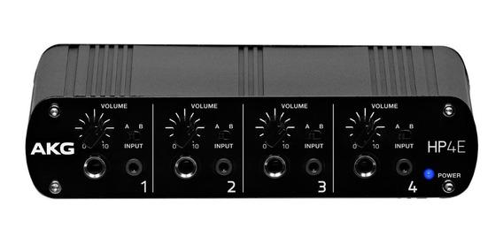 Amplificador De Fones Akg Hp4e | Powerplay | 4 Canais | Nfe