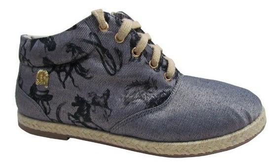 Sapato Guria Jeans/cinza