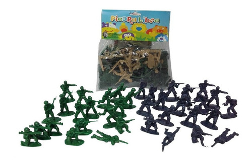 Soldados Soldaditos De Guerra En Bolsa 36 Piezas 4,5 Cm