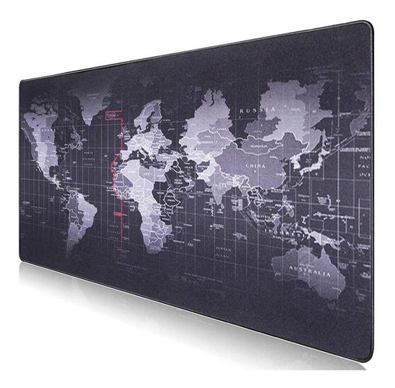 Mouse Pad Gamer Mapa Mundo Mundi Speed Grande 70x35cm