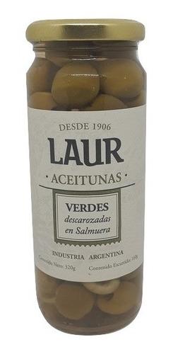Aceitunas Verdes Descarozadas En Salmuera Laur 320g.