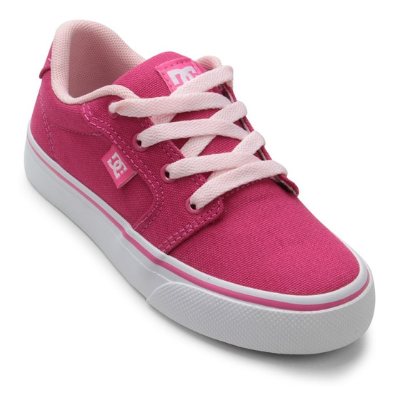 Tenis Infantil Dc Shoes Anvil La Rosa Feminino Frete Grátis