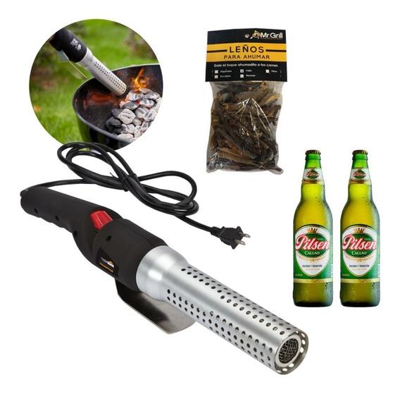 Mr. Grill-encendedor Easy Fire Leñitos + 2 Cervezas Ef0001