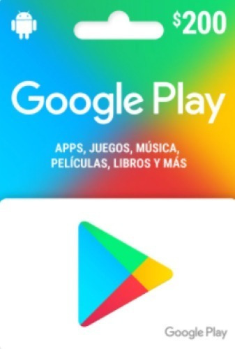 Imagen 1 de 1 de Tarjeta Google Play De $200 Importante Leer La Descripción