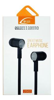 Fone De Ouvido Estéreo Com Microfone Intra Auricular P2 P3