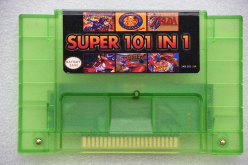 Super Nintendo Fita 101 Jogos Bateria Final Fantasy Mario