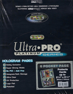 Micas Para Wide Card Ultra-pro Platinum Series X 10 Unidades