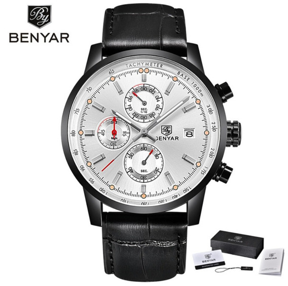 Relógio Benyar Sport Edition 2018 Silver Black