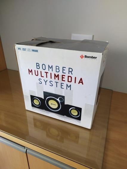 Bomber Multimedia System Kit 1 Subwoofer 2 Satélites