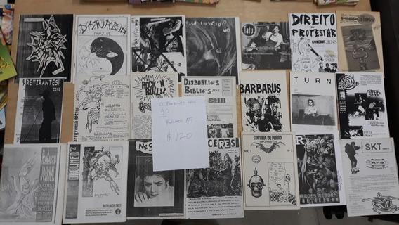 Fanzines De Contra Cultura Anos 90 21 Exemplares