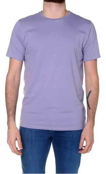 Remera M/c Billabong Fundamental Color Tee Violeta Hombre