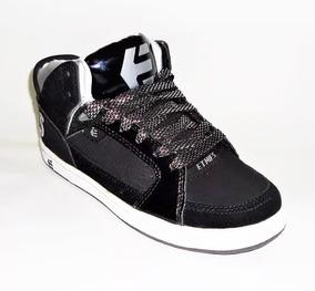 Tenis Etnies Uptown Ws Black/white/silver Skate Shoes