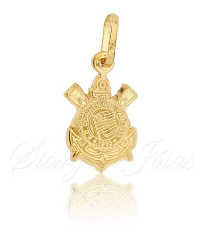 Imagem 1 de 4 de Pingente Símbolo Do Corinthians Ouro 18k Stargold Jóias