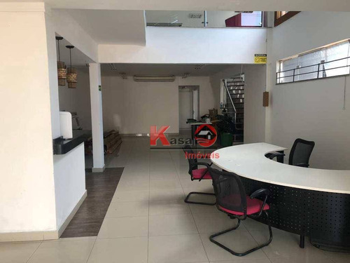 Casa Para Alugar, 400 M² Por R$ 15.000,00 - Vila Matias - Santos/sp - Ca0966