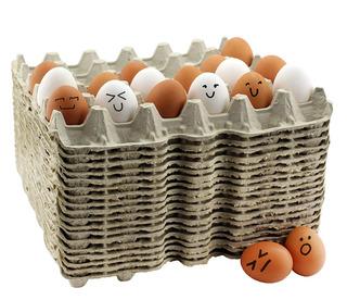 30- Contar Huevo Pisos (18 Bandejas); Biodegradable Reciclad