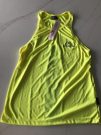 Musculosa De Deporte Amarilla Marca Kappa Talle 1 Nueva!!!