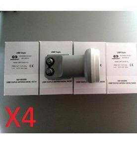 Kit 4 Lnb Duplo Universal (cabbletech/solutions/wnc)