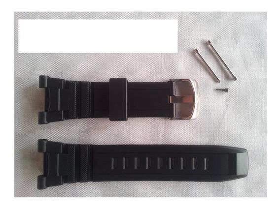 Pulseira Casio Sgw-100 Casio Sgw100 Borracha + Par Parafusos
