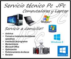Servicio Tecnico Computadora Pc Laptop Formateo A Domicilio