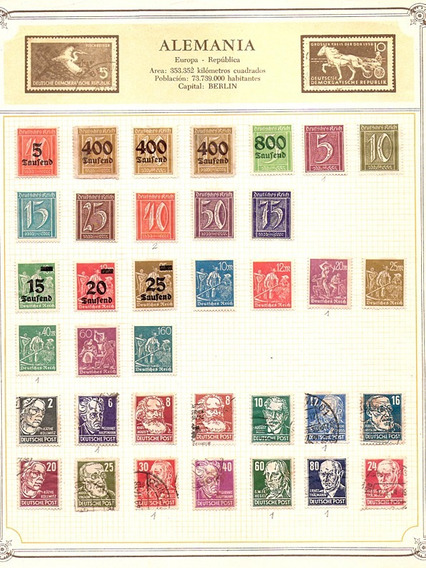 Filatelia - 206 Estampillas De Alemania 1900 - 1960