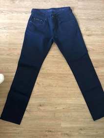 Calça Skinny Calvin Klein Jeans 40 Azul Cintura Media