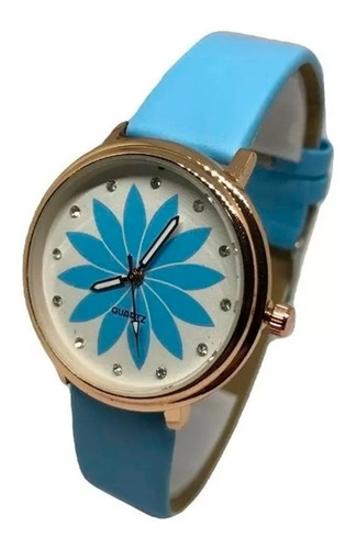 Reloj Pulsera Ecocuero Para Mujer Diseño Margarita Oferta !!
