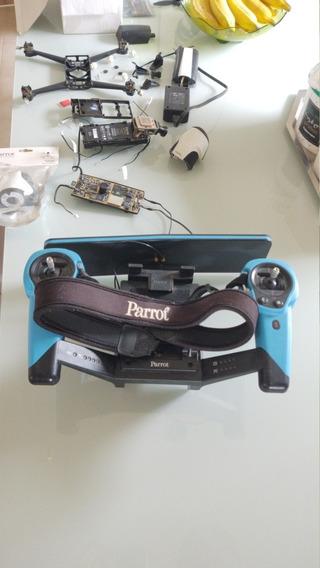 Drone Parrot Bebop2 Avariado E Sky Controle Em Bom Estado !
