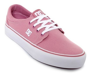 Tenis Dc Shoes Trase - Rosa Y Blanco